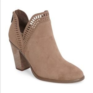 Vince Camuto Taupe Fileana Booties